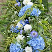 Dessus de cercueil bleu