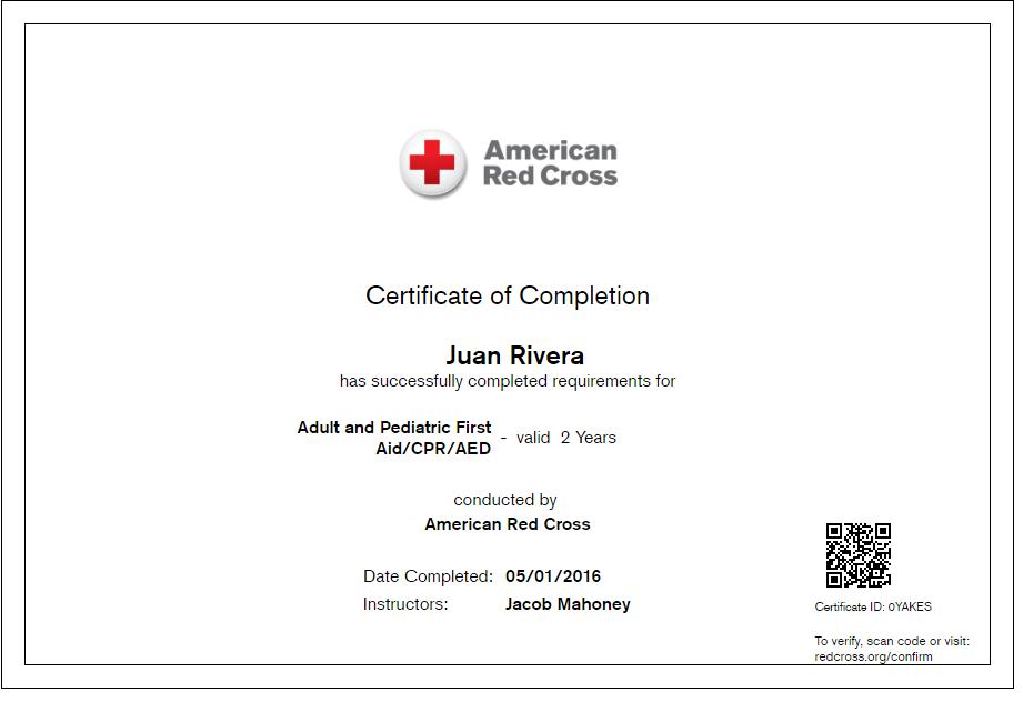 cpr certified