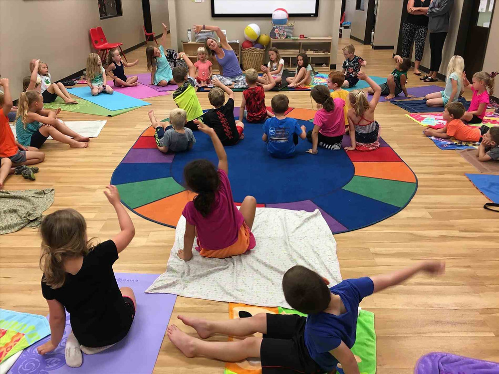 central florida kids yoga first grade class
