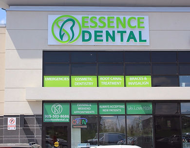 Storefront of Essence Dental Aurora.  Your Aurora Dentist.