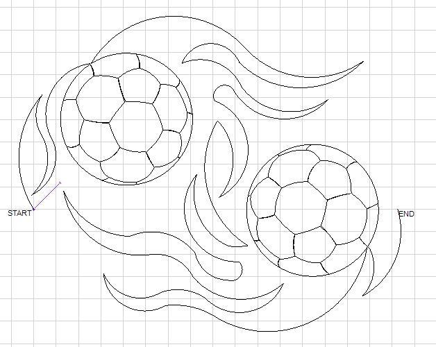 LBlackman Soccer Flames Panto