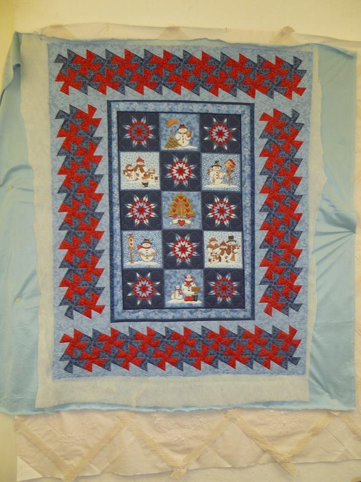 """JC of Morrin's 'Snowmen"""" quilt"""
