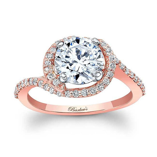 8031LP ROSE GOLD HALO ENGAGEMENT RING