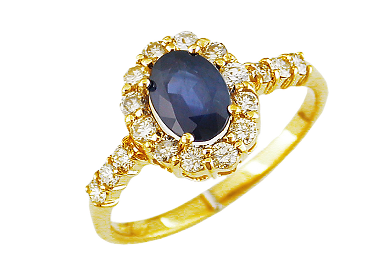 DIAMOND & SAPPHIRE RING 3788SP