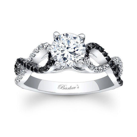 7714LBK BLACK DIAMOND ENGAGEMENT RING