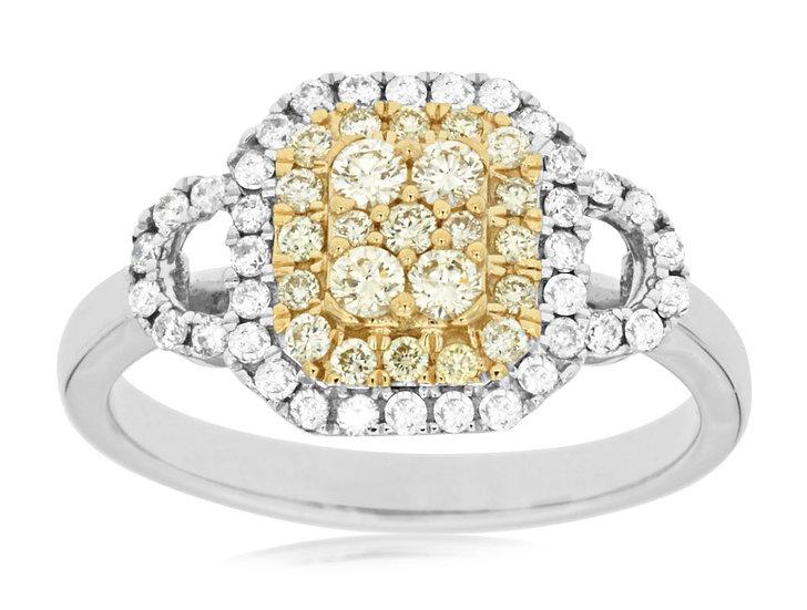 DIAMOND & YELLOW DIAMOND RING WC7574Y