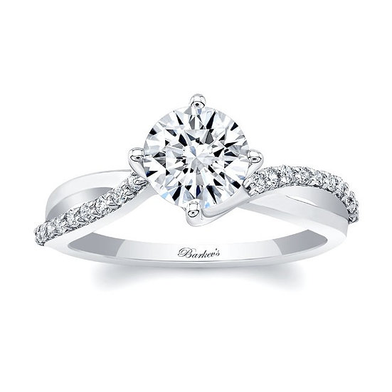 8077L WHITE GOLD ENGAGEMENT RING