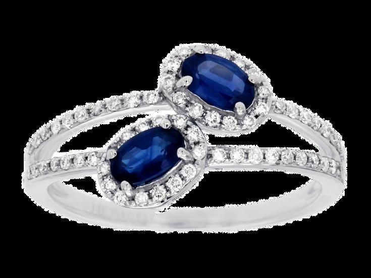 DIAMOND & SAPPHIRE RING WC7583S