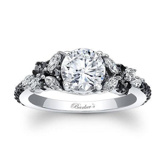 7932LBK BLACK DIAMOND ENGAGEMENT RING