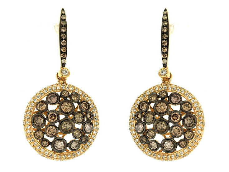 DIAMOND & MOCHA DIAMOND EARRING C4632V
