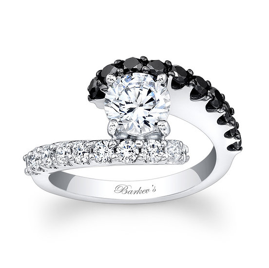 7737LBK BLACK DIAMOND ENGAGEMENT RING