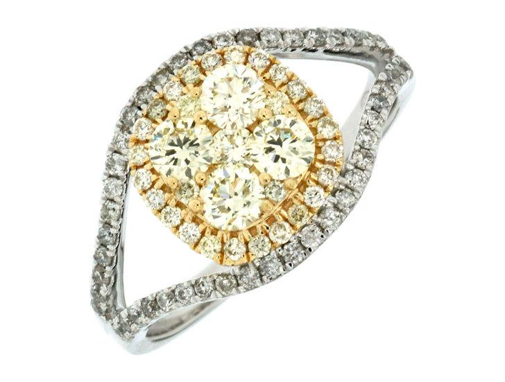 DIAMOND & YELLOW DIAMOND RING WC6631Y