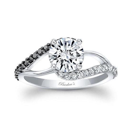 8149LBK BLACK DIAMOND ENGAGEMENT RING