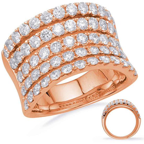2.56 ctw. ROSE GOLD DIAMOND FASHION RING