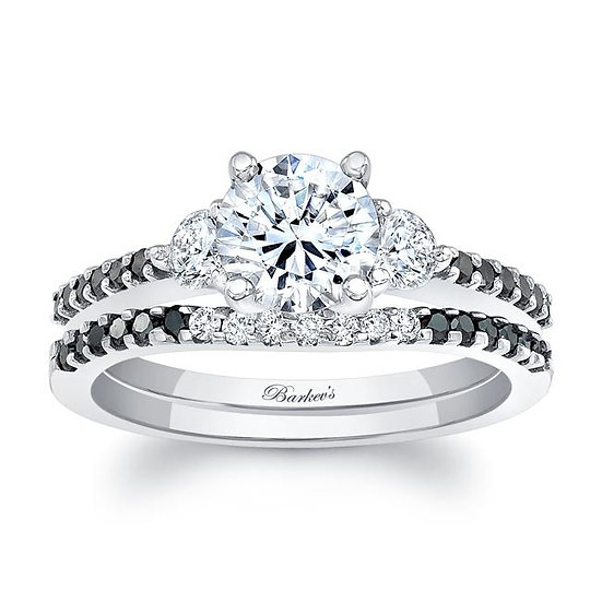 7539SBK BLACK DIAMOND BRIDAL SET