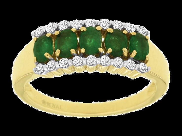 EMERALD & DIAMOND RING C8461EM