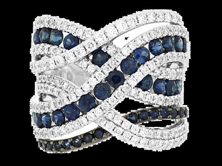 DIAMOND & SAPPHIRE RING WC7538S