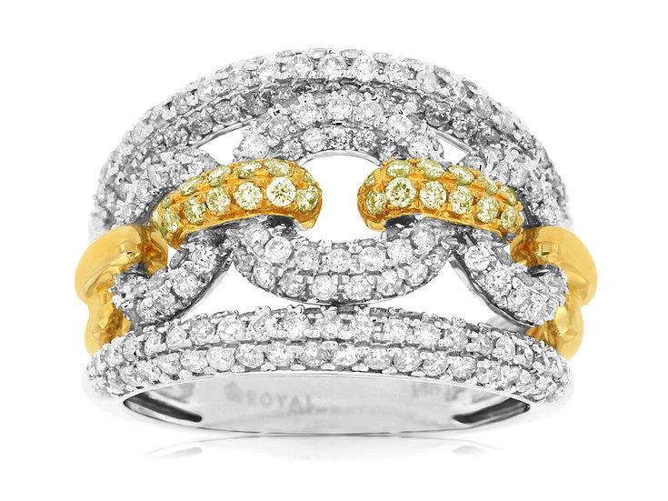DIAMOND & YELLOW DIAMOND RING WC7967Y