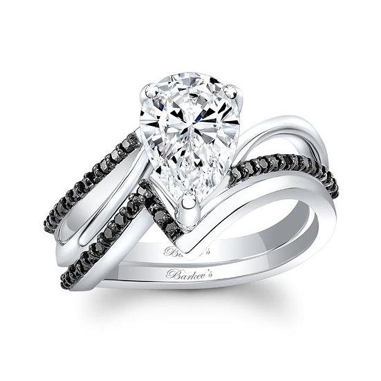 8213SBK BLACK DIAMOND PEAR SHAPE BRIDAL SET