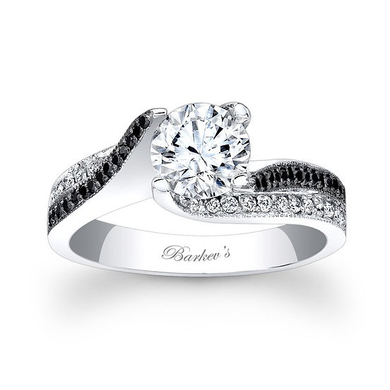 7869LBK BLACK DIAMOND ENGAGEMENT RING