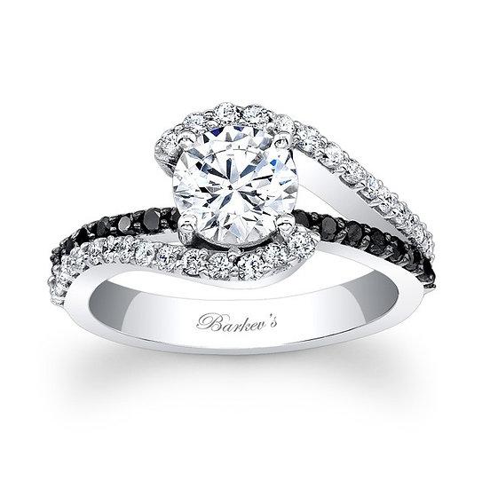 7848LBK BLACK DIAMOND ENGAGEMENT RING