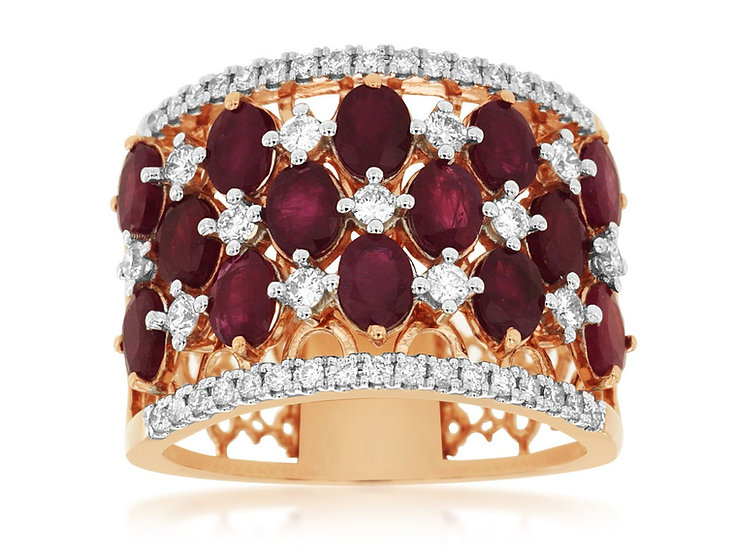 RUBY & DIAMOND RING PC9123R