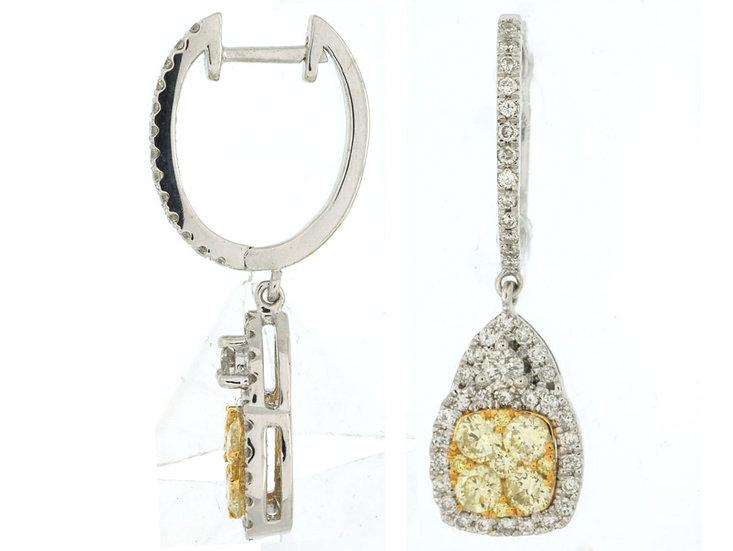 DIAMOND & YELLOW DIA EARRING WC5932Y