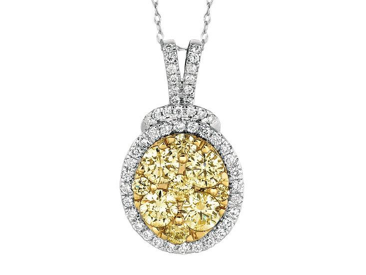 DIAMOND & YELLOW DIA PENDANT WC5952Y