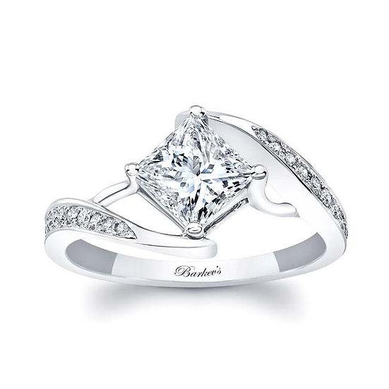 8156L WHITE GOLD PRINCESS CUT ENGAGEMENT RING