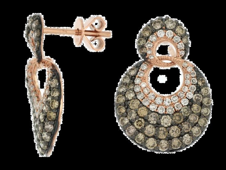 DIAMOND & MOCHA DIAMOND EARRING PC5998V