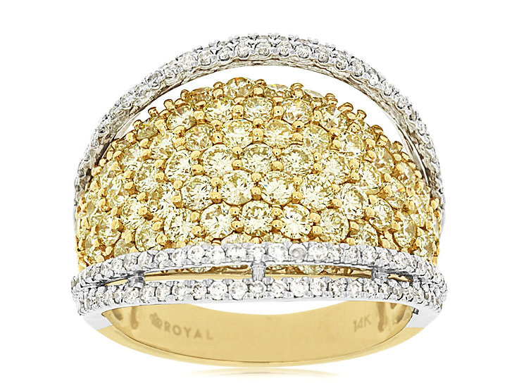 DIAMOND & YELLOW DIAMOND RING C7265Y