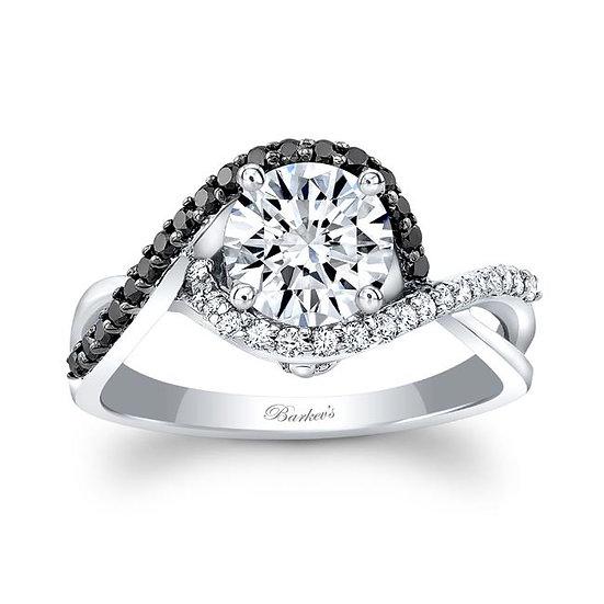 8167LBK BLACK DIAMOND ENGAGEMENT RING