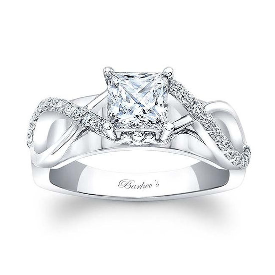 8018L WHITE GOLD 1.00CT. PRINCESS CUT ENGAGEMENT RING