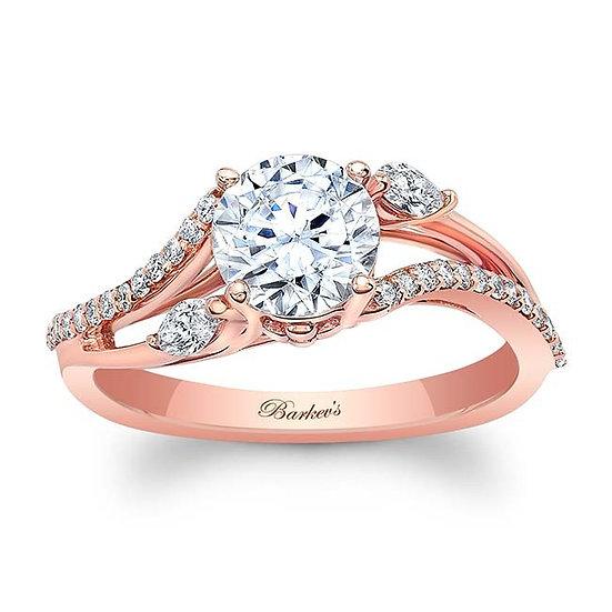 8060LP ROSE GOLD ENGAGEMENT RING