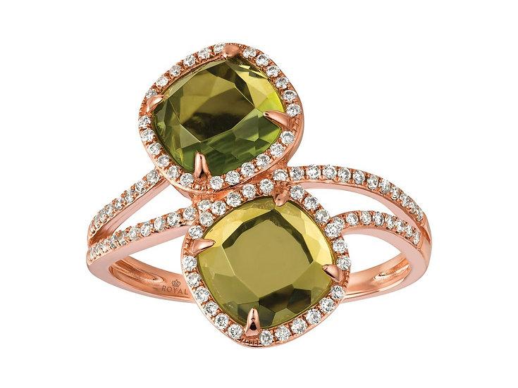 DIAMOND & PERIDOT RING PC6394X