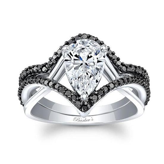 8168SBK BLACK DIAMOND PEAR SHAPE BRIDAL SET