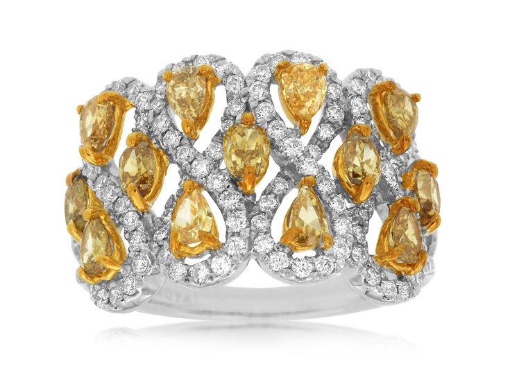 DIAMOND & YELLOW DIAMOND RING WC8012Y