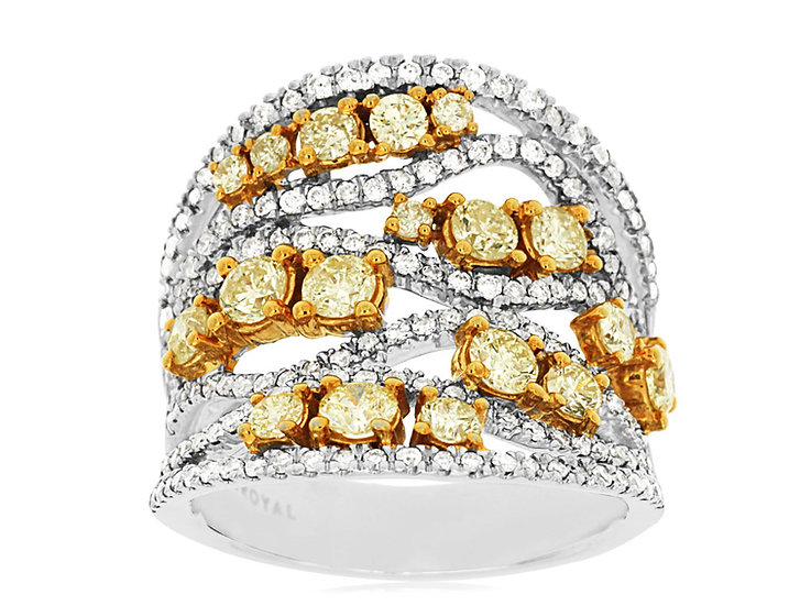 DIAMOND & YELLOW DIAMOND RING WC7263Y