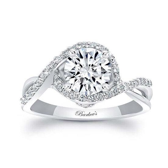 8167L WHITE GOLD DIAMOND ENGAGEMENT RING