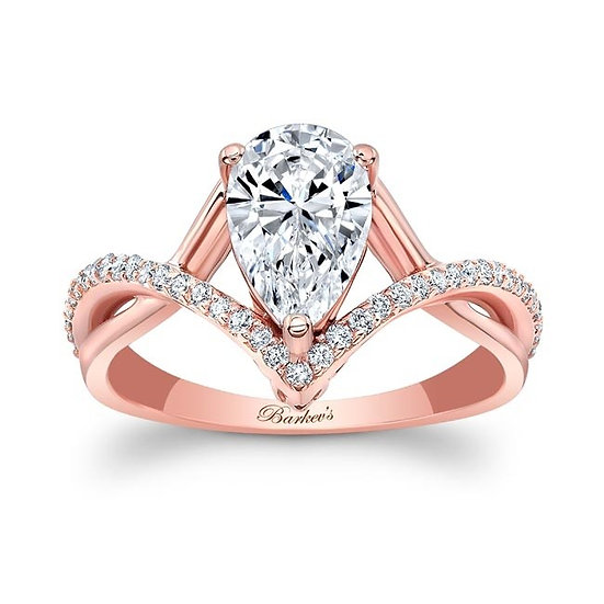 8168LP ROSE GOLD PEAR SHAPE DIAMOND ENGAGEMENT RING