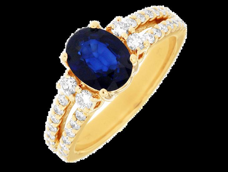 DIAMOND & SAPPHIRE RING 3881SP