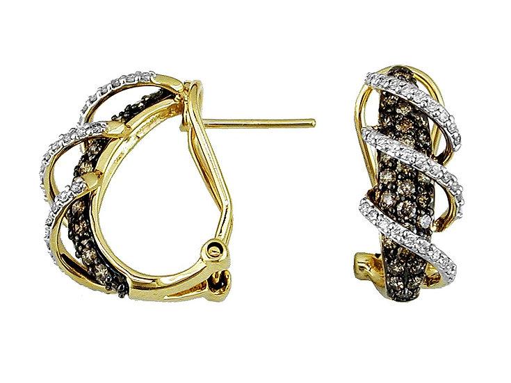 DIAMOND & MOCHA DIAMOND EARRING C4097V