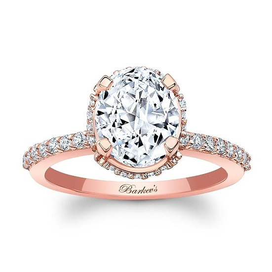 8157LP ROSE GOLD OVAL DIAMOND ENGAGEMENT RING