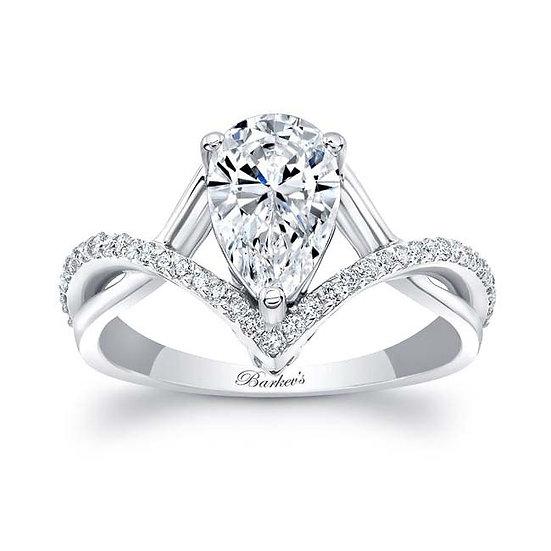 8168L WHITE GOLD PEAR SHAPE DIAMOND ENGAGEMENT RING