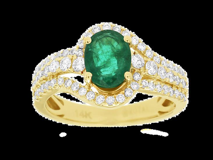 EMERALD & DIAMOND RING C8686EM