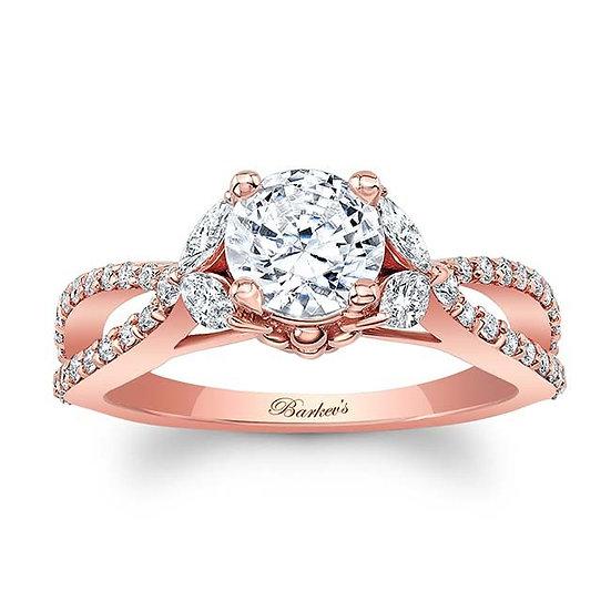 8062LP ROSE GOLD ENGAGEMENT RING