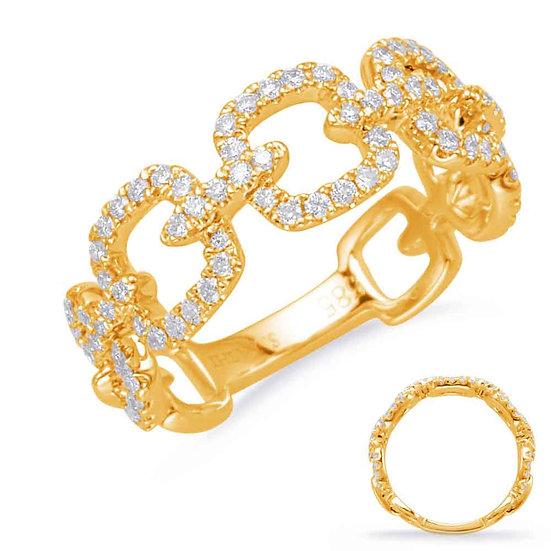 0.47 ctw. YELLOW GOLD DIAMOND FASHION RING