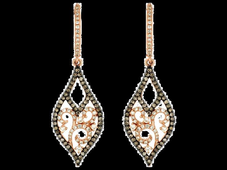 DIAMOND & MOCHA DIAMOND EARRING PC5967V