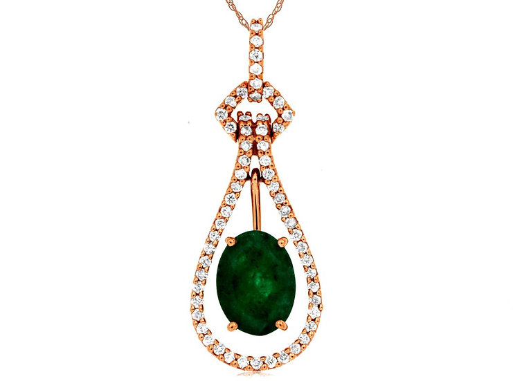 DIAMOND & EMERALD PENDANT PC6546E