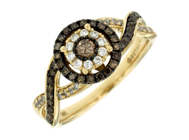DIAMOND & MOCHA DIAMOND RING C6288V